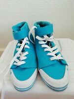 Womens DC Venice Mid Skateboard Shoes Light Blue Uk Size 7 Eu Size 40.5 Us Size
