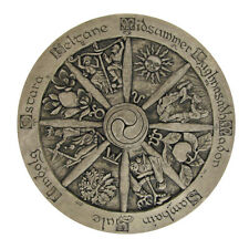 Wheel of the Year Wall Plaque - Large Pagan Dryad Design with Stone finish