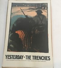 Rare Historic  Labour Party Poster Print 1970's  Politics - The Trenches Marx