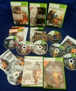 Xbox 360;Medal of Honor & Warfighter- Lmt Eds,Battlefield 3 & Bad Co 2,Titanfall