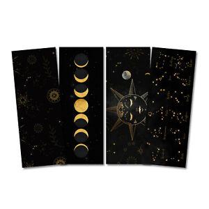 Lesezeichen Set ASTROLOGIE, 4 Lesezeichen Mond und Sterne Geschenk Freundin