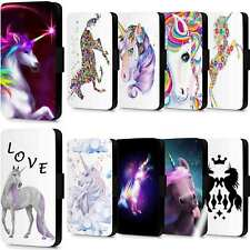 Unicorn Rainbow Horse Flip Case Wallet Cover For Samsung Galaxy S6 S7 Edge S8