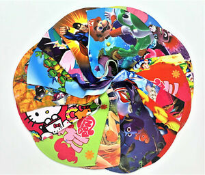 Kids face mask colorful designs washable reuseable fabric affordable low price
