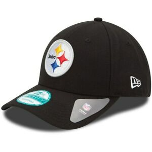 Pittsburgh Steelers New Era 9Forty Current Black The League Strap Back Hat NFL