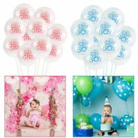 10Pcs/Set It's a Boy and It's a Girl Latex Balloons Baby Shower Party Decoration