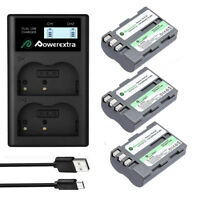 EN-EL3E Battery + Dual LCD Charger for Nikon D50 D70 D80 D90 D100 D200 D300 D700