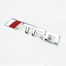 Silver 3D Metal TRD Logo Front Grille Emblem Badge Decal Car Sticker For Toyota