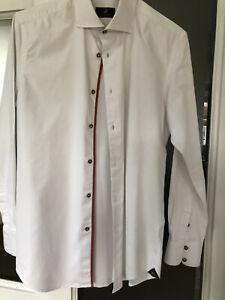 Circle Of Gentlemen Size M/15.5 White Slim Fit Dress Shirt Men's