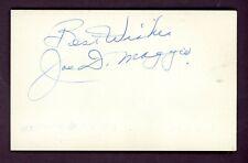"Joe DiMaggio Signed Index Card Yankees HOF "" BEST WISHES "" SGC COA AUTO"