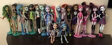 Huge Lot of 19 Monster High, Ever After Dolls, and Stands in Pic: Fast Shipping