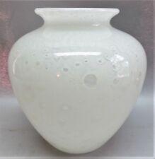 "Large 10"" STEUBEN WHITE CLUTHRA Art Glass Vase  Shape #2683  c. 1915  antique"