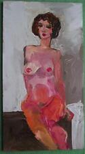 Relaxing Brunette Nude  B Original Impressionist Oil Painting by Alexei Petrenko