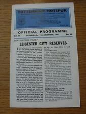 11/12/1971 Tottenham Hotspur riserve V Leicester City RESERVES (4 pagine)