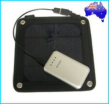 3W Portable Solar Panel Pack+ 5000mAh Power Bank Mobile Charger External Battery