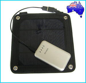 3W Portable Solar Panel Pack+ 3000mAh Power Bank Mobile Charger External Battery