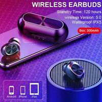 Bluetooth 5.0 Headset TWS Wireless Earphones Mini Earbuds Stereo IPX6 T0I9