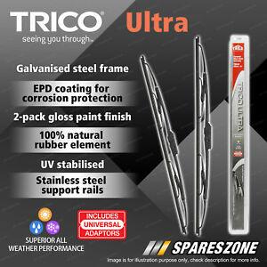 Front Trico Ultra Wiper Blades for Nissan NX NX-R Primera Pulsar N15 Sentra N14