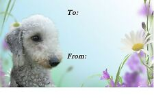 Bedlington Terrier Dog Self Adhesive Gift Labels designed by Starprint