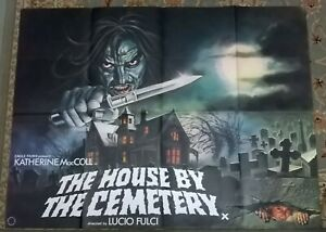 THE HOUSE BY THE CEMETERY 1981 ORIGINAL UK QUAD POSTER - Lucio Fulci HORROR