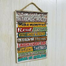 "Personalized Retirement Rules Retiree Gift Sign 10.5""x7"" CUSTOM Plaque"