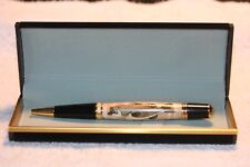Handcrafted Large Mouth Bass Inlay Pen in a Black Velour Case