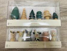 Hearth and Hand by Magnolia Wooden Farm Animal Figurine And Tree Bundle