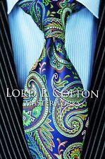 Lord R Colton Masterworks Tie - Ravello Coast Purple Paisley Silk Necktie - New