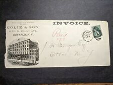 1880's COLIE PARLOR FURNITURE, BUFFALO to OTTO, NY Postal History Cover