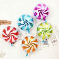 Lollipop Foil 6Pcs Wedding Party 18'' Decor Birthday Child Candy Round Balloons