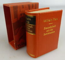 Minibuch: Wilhelm Pieck Freundschaft mit der Sowjetunion 1981 Offizin A Buch1570