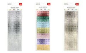 Simply Creative adhesive round 6mm gems 504 pack - silver gold rainbow FREE P&P
