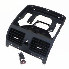 Black Car Air Conditionin Outlet Vents + Hazard Warning Switch For VW Golf MK5
