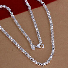 XMAS wholesale free shipping 925sterling solid silver chain necklace YN642 +box
