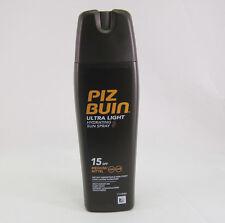 Piz Buin Ultra Light Sun Lotion Sun Spray SPF 15 - 200ml - 1 can- Made in the UK