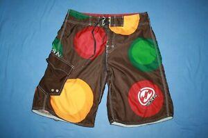 Billabong Board Shorts Sz 34 brown multicolor