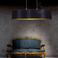 Lampada lampadario sospensione design moderno paralume nero oro cromo soggiorno
