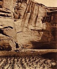 Vintage EDWARD CURTIS American Indian Navajo Canyon GOLDTONE Photo Art 11x14