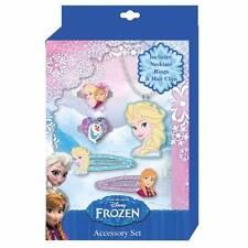 Set Bijoux 5 pezzi Accessori Moda Fermacapelli Collana Anello Disney Frozen