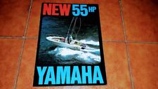 BROCHURE CATALOGO ADVERTISEMENT YAMAHA MOTORE 55 HP BARCA YACHT NAUTICA 1970