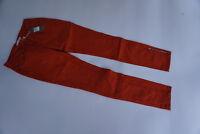 YAYA Damen super Stretch Jeans 7/8 Hose mit Zip Gr.38 W32 lachs rot NEU cx31