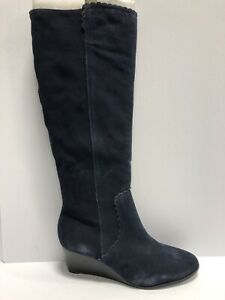 Jack Rogers Women's Wedge Tall Booties-Navy, Size 11M.