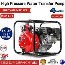Giantz 8HP 1.5 inch Petrol High Pressure Water Pump - Red