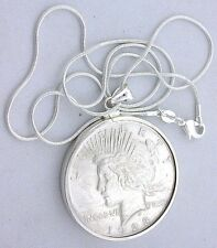 Peace silver dollar pendant ebay 1923 peace silver dollar pendant sterling silver bezel mounting free chain mozeypictures Choice Image