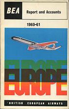 BEA 1960-61 ANNUAL REPORT COMET 4B BRITISH EUROPEAN AIRWAYS B.E.A.OLYMPIC