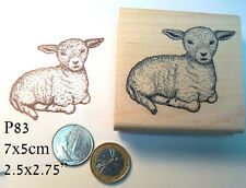 P83 Lamb rubber stamp