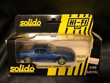 SOLIDO HI-FI 43 CHEVROLET CAMARO BLUE 1507 METAL 1:43 IN PACKAGE CHEVY