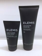 Elemis Men's Deep Cleanse Facial Wash 50ml Skin Soothe Shave Gel 100ml