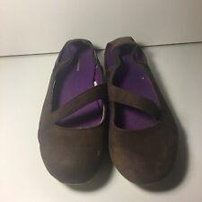PATAGONIA Women's Maha Breathe Sz 9 Graphite Brown Suede Mesh Ballet Flats Shoes