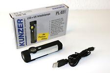 Kunzer LED + UV Arbeitslampe Taschenlampe Lampe Kopfstrahler UV-Lampe PL-031