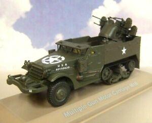 ATLAS 1/43 DIECAST WWII US ARMY WHITE M16 HALF TRACK MULTIPLE GUN MOTOR CARRIAGE